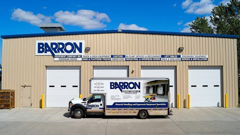 Front of Barron with Truck