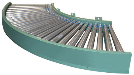 596 Powered Roller Accumulating Curve Conveyor