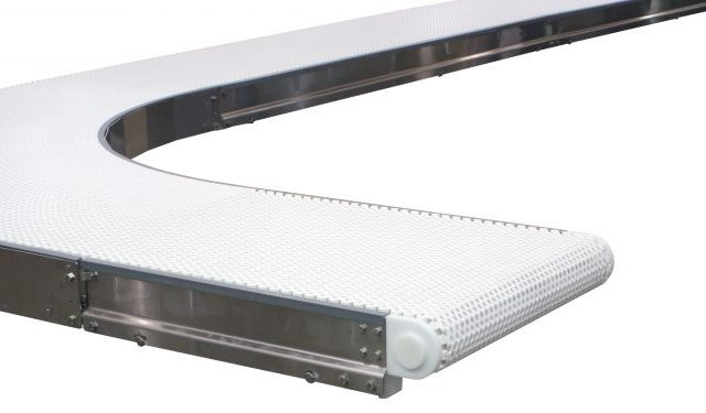 7350 Modual Belt Conveyor with Curved section