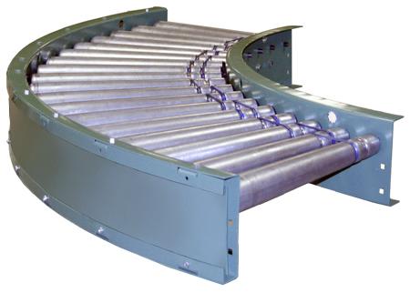 Model 796 Curved Powered Roller Conveyor
