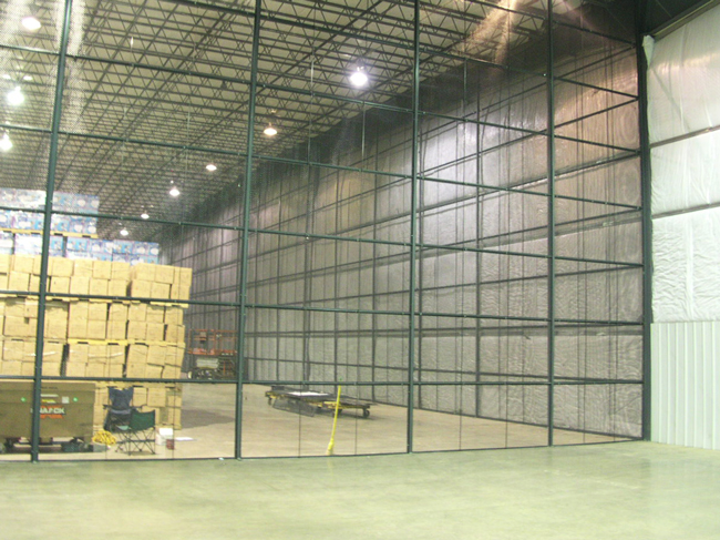 Style 840 Wire Partitions installed in Warehouse