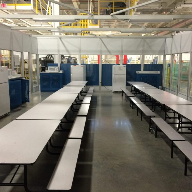 Break Room Installed in Manufacturing Facility