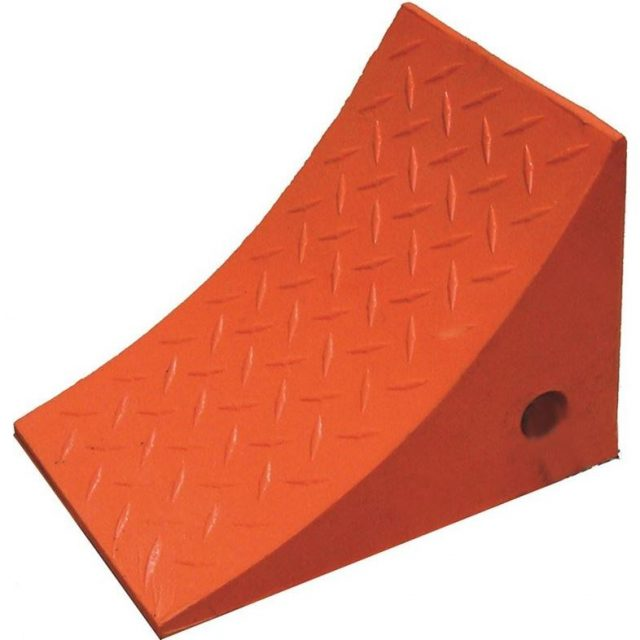 Durable Urethane Wheel Chock Orange
