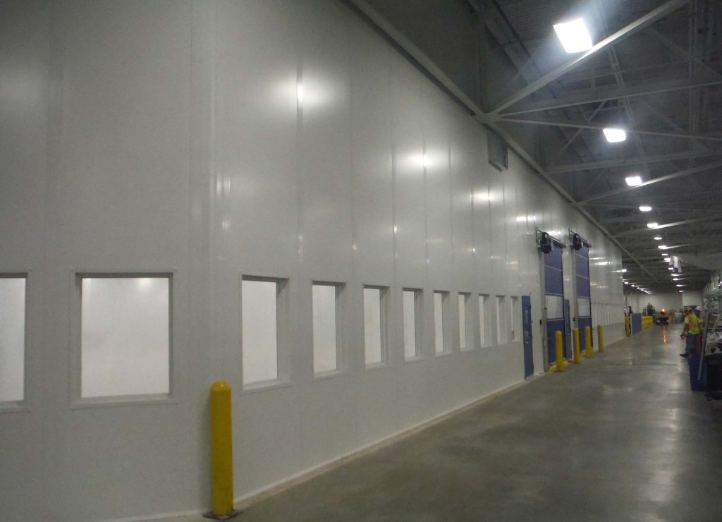 Modular Tall Wall in Facility