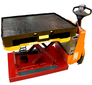 PalletPal Walking loading on Automatic Pallet Jack