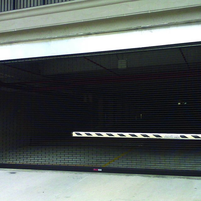 Black SentryGate Parking Garage Grille