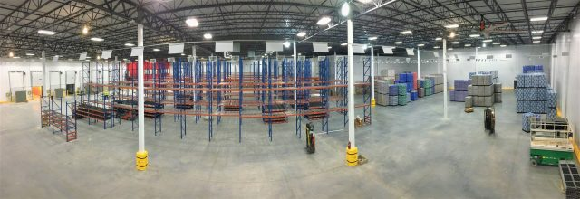 Panorama of Racking Install at 7G Distributing