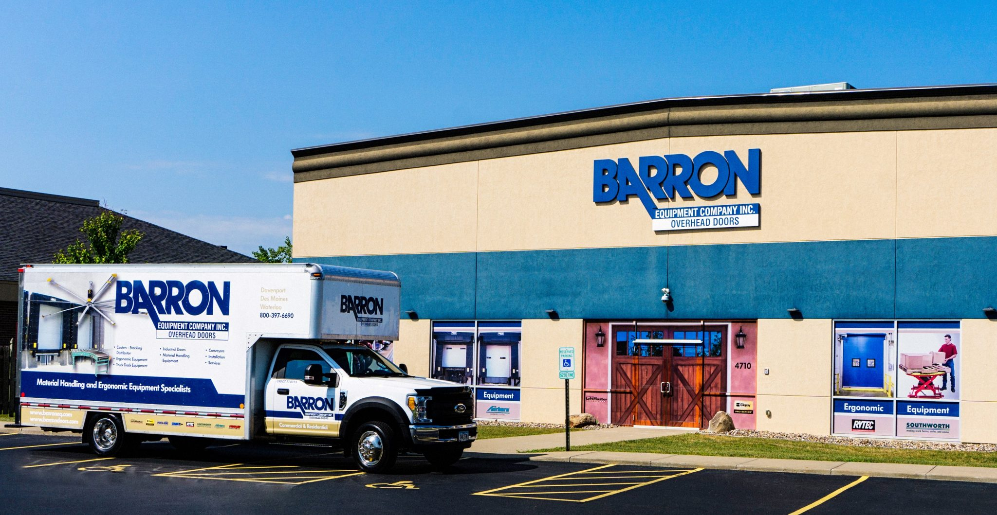 Barron Truck outside of our Davenport, IA Location