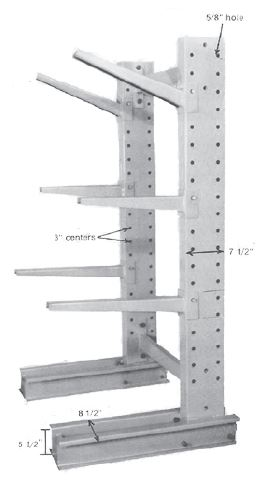 Cantilever Rack Side View