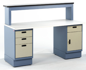 Heavy Duty Pedestal Workbenches