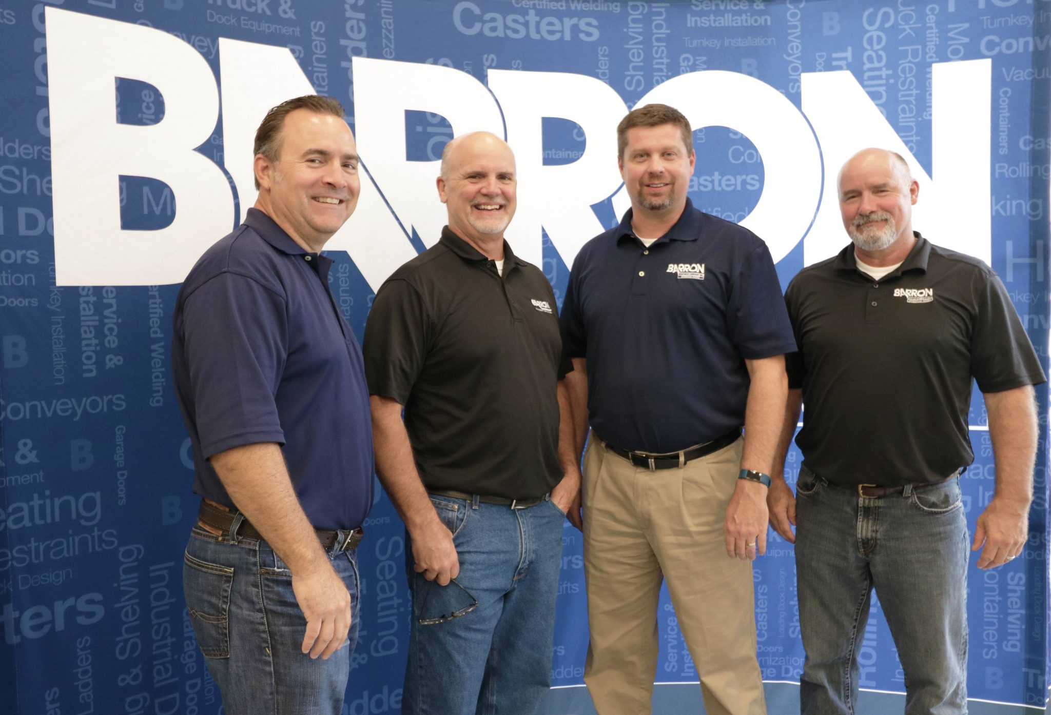 Barron Team at a trade show
