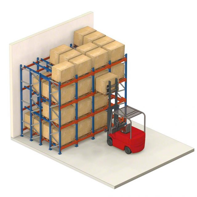 Push back pallet racking Loading