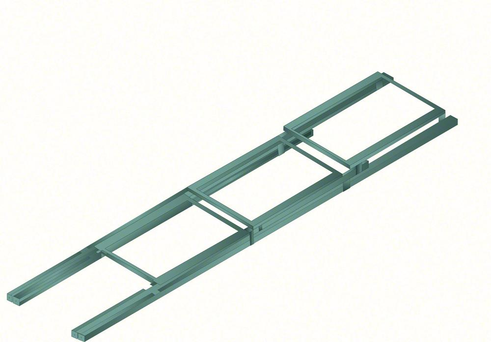 Push back pallet racking Extended Position