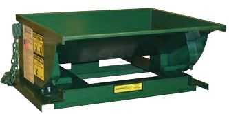 Low Profile Super Heavy Duty Formed Base Self Dumping Hopper