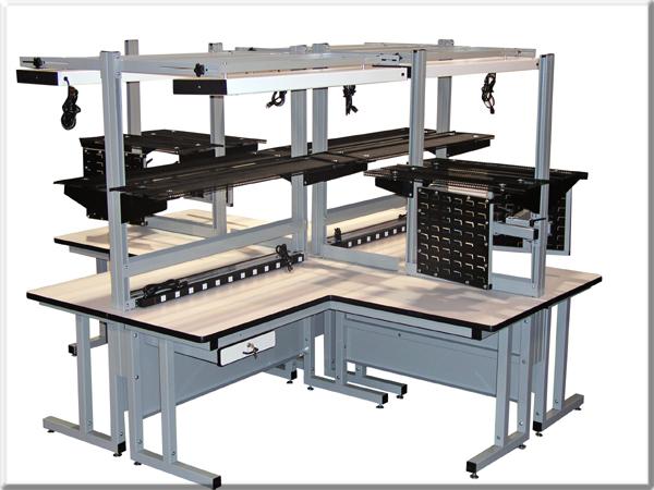 Model CHD Quad Ergonomic Workbench