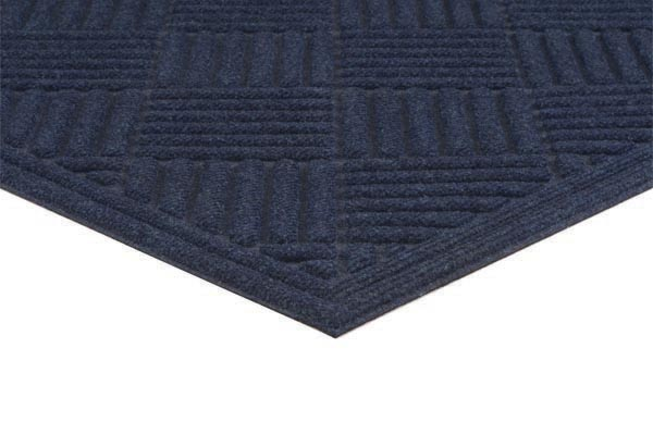 Ecomat Crosshatch Blue Color
