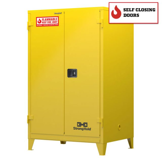 Flammable safety cabinet with self closing doors 90 gallon