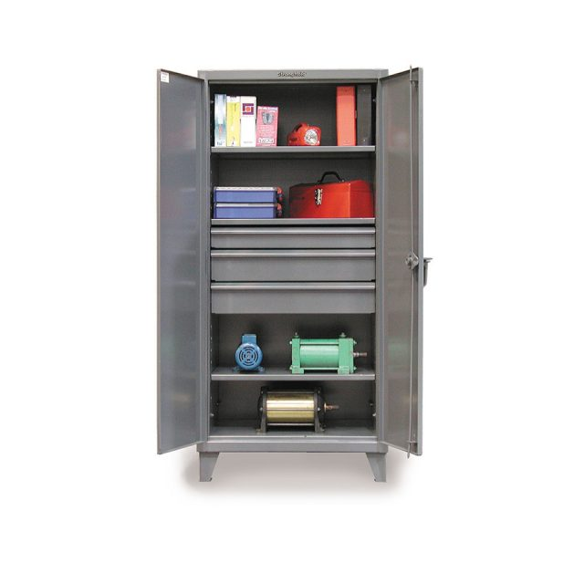 industrial cabinet with 3 drawers