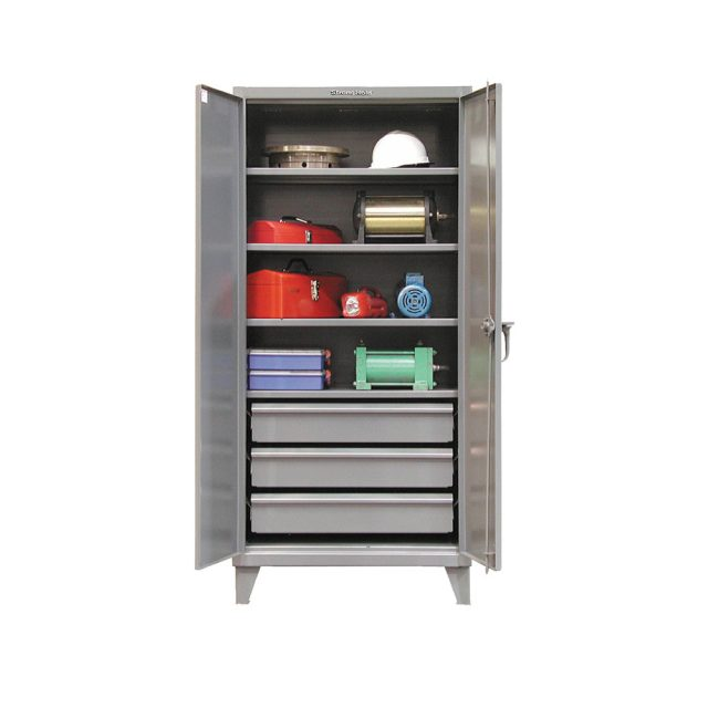 industrial cabinet with 3 lower drawers
