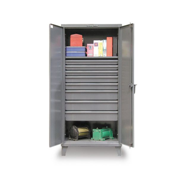 industrial cabinet with 8 drawers