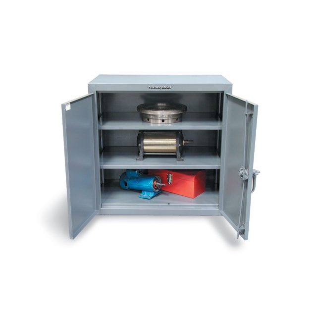 industrial counter height cabinet