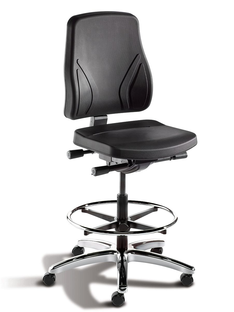 Bimos Trend Black Chair With Adjustable Foot Ring