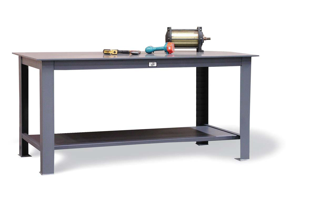 heavy duty table with half inch steel plate top