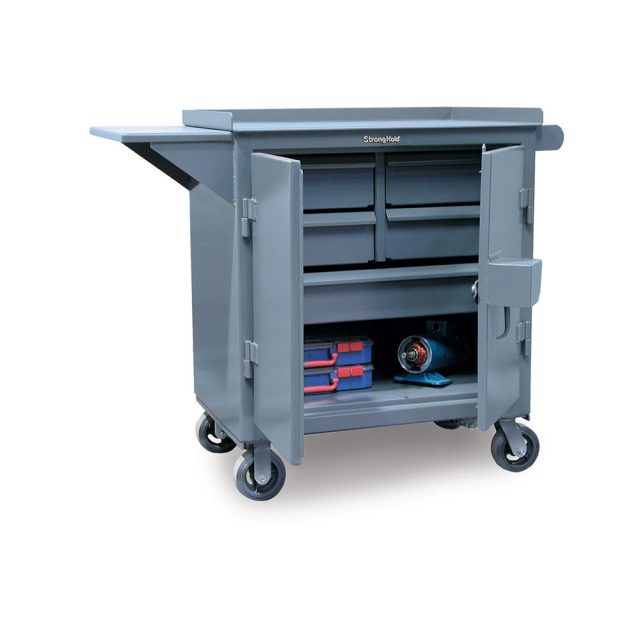 mobile maintenance tool cart with lock guard