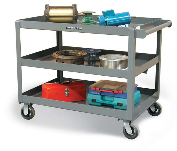 service cart with 3 shelves