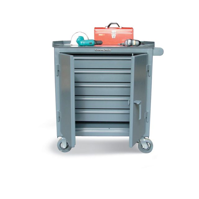tool cart with 5 full width drawers