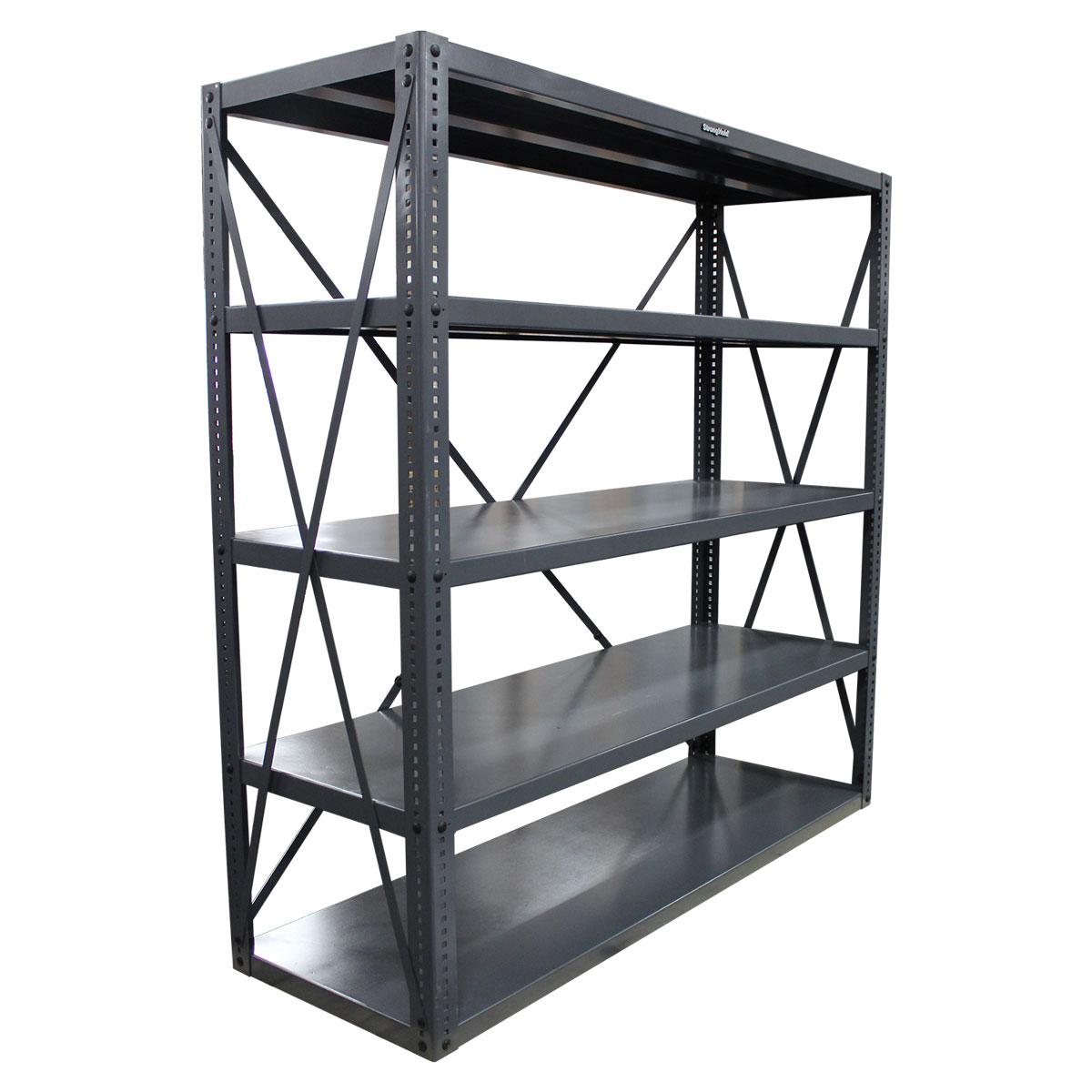 12 ga steel open shelving unit