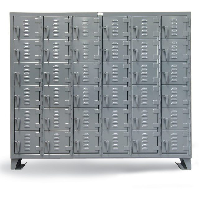 Stronghold 6 tier 36 compartment industrial locker