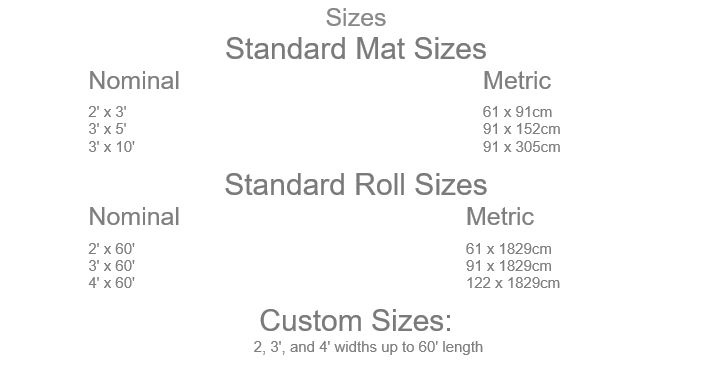 ArmorStep Mat Sizes