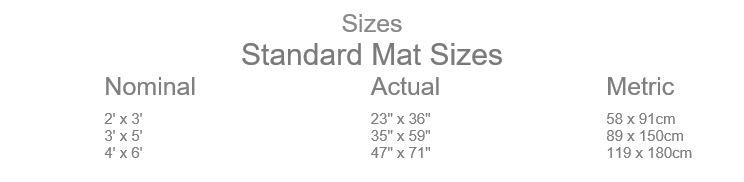 CleanScrape Mat Sizes