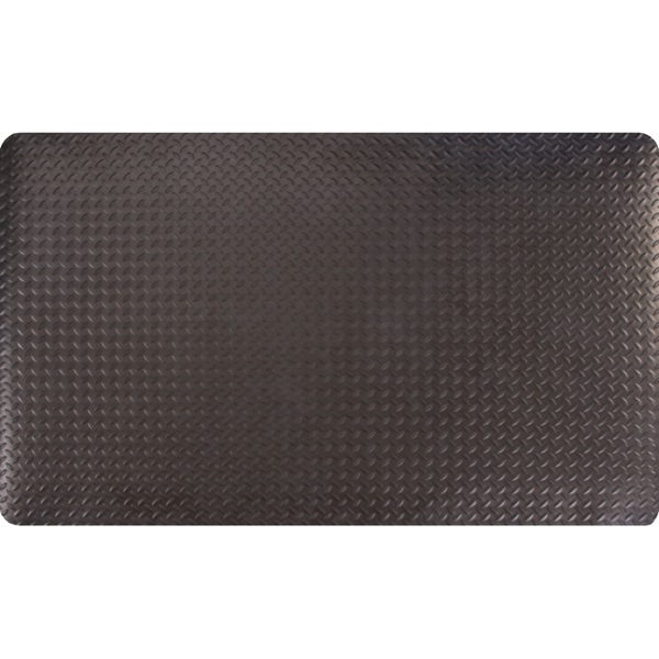 Conductive Diamond Foot Black Floor Mat top view