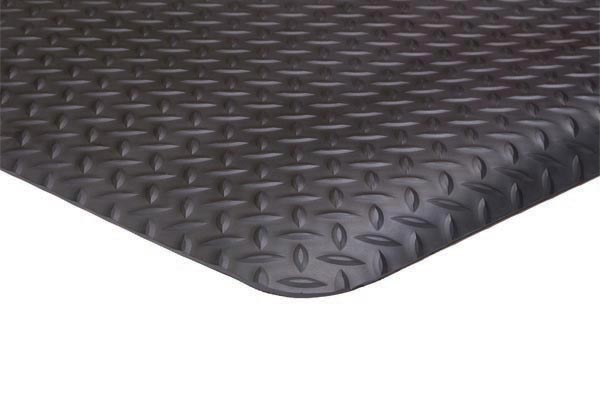 Conductive Diamond Foot Black Floor Mat