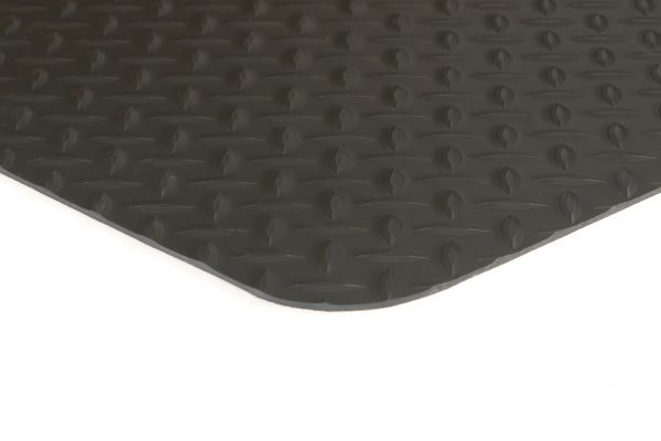 Conductive Diamond Runner Black Floor Mat