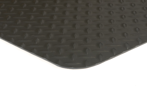 Conductive Diamond Runner Black Floor Mat