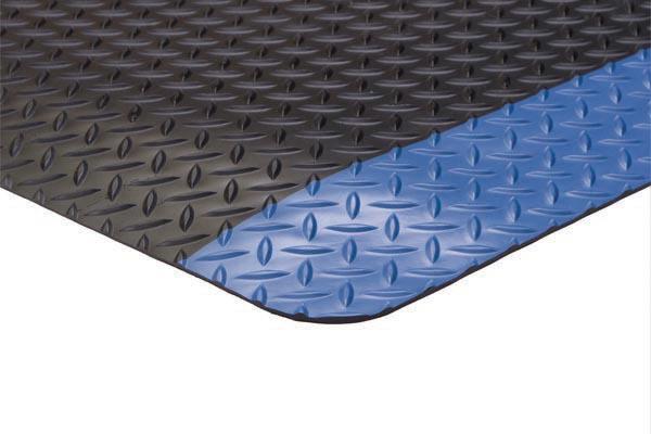 Diamond Foot Mat Black Blue