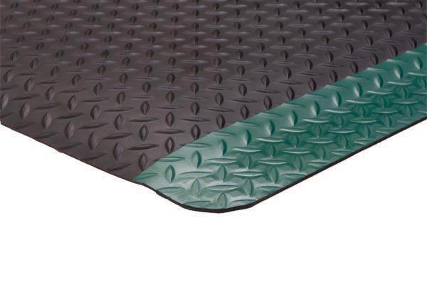 Diamond Foot Mat Black Green