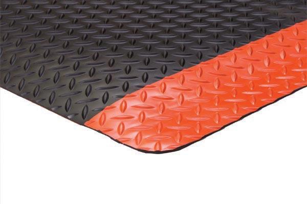 Diamond Foot Mat Black Orange