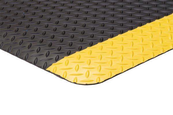 Diamond Foot Mat Black Yellow