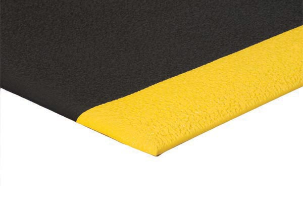ErgoFlex Mat Black color with yellow borders