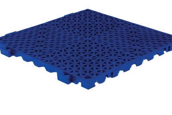 Grid Step Modular Floor Mat blue color