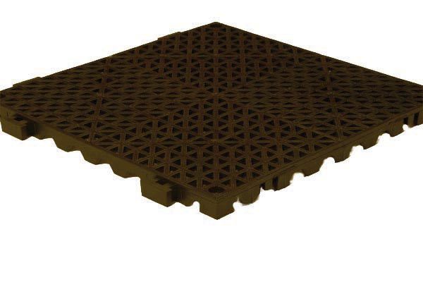 Grid Step Floor mat brown