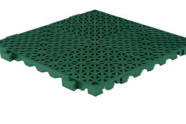 Grid Step Floor mat green