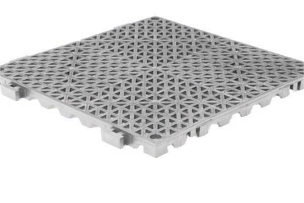 Grid Step Floor mat light gray