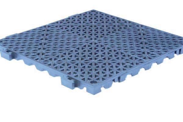 Grid Step Floor mat pool blue