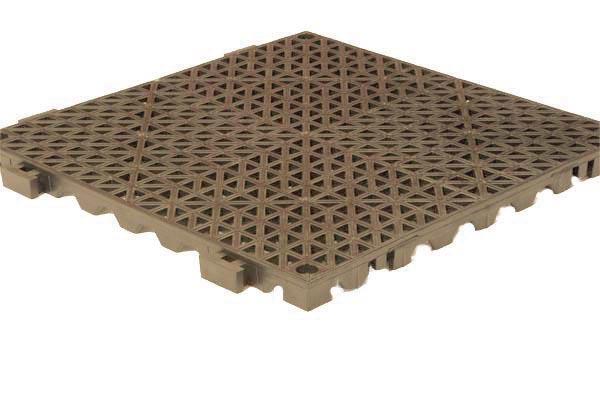 Grid Step Floor mat tan