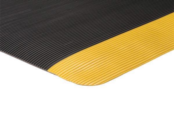 Invigorator™ mat Black color with yellow border